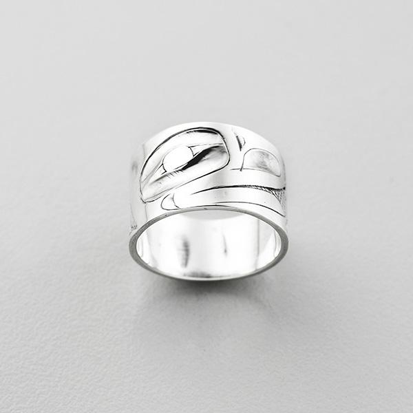 Silver Frog Ring by Northwest Coast Native Artist Alvin Adkins