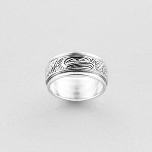 Silver Eagle Ring by Northwest Coast Native Artist Lloyd Wadhams Jr.