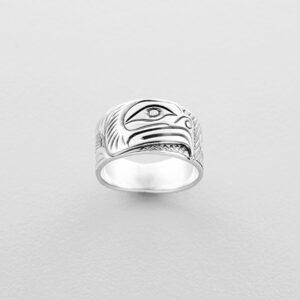 Silver Thunderbird Ring by Northwest Coast Native Artist Lloyd Wadhams Jr.