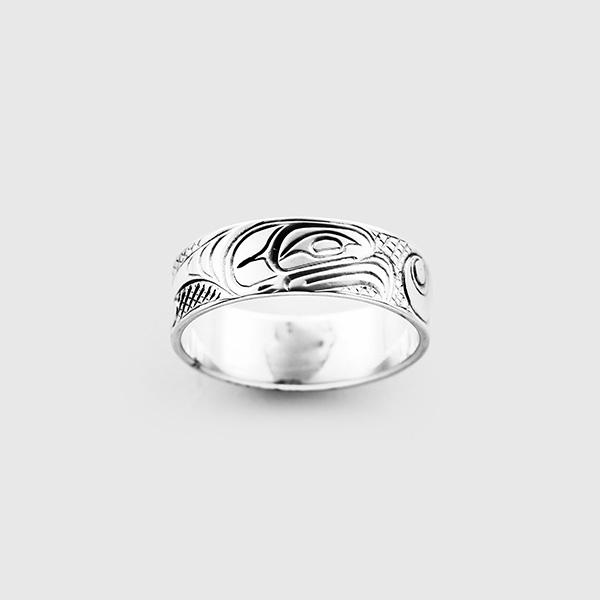 Silver Thunderbird Ring by Native Artist Lloyd Wadhams Jr