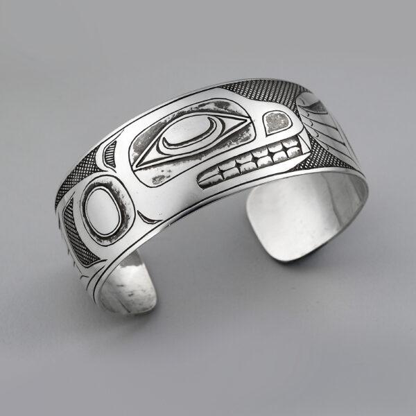 Silver Sea Lion Bracelet by Northwest Coast Native Artist Barry Wilson