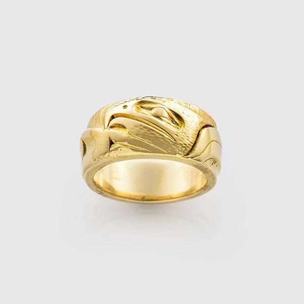 Gold Eagle Ring by Northwest Coast Artist Mark Preston