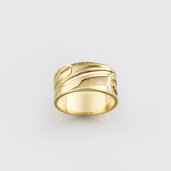 Gold Hummingbird Ring by Native Artist Alvin Adkins