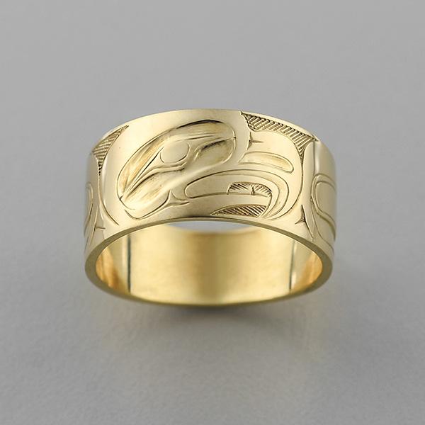 Gold Eagle Ring by Northwest Coast Native Artist Allen Thompson