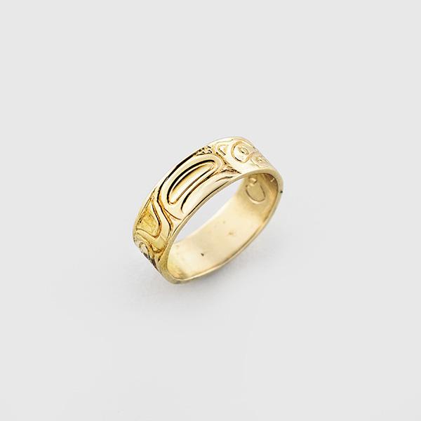 Gold Bear Ring by Native Artist Carmen Goertzen