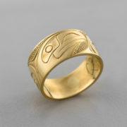 Gold Raven Ring by Northwest Coast Native Artist Carmen Goertzen