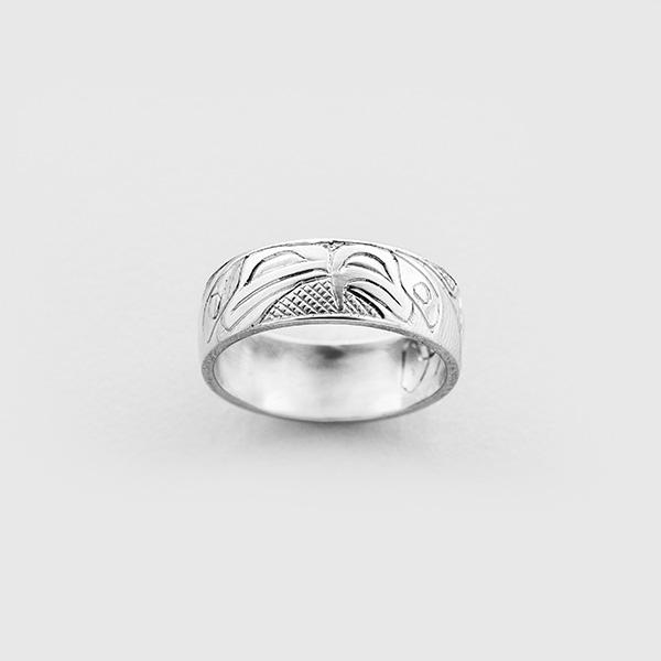 Gold Raven & Eagle Ring by Native Artist Carmen Goertzen