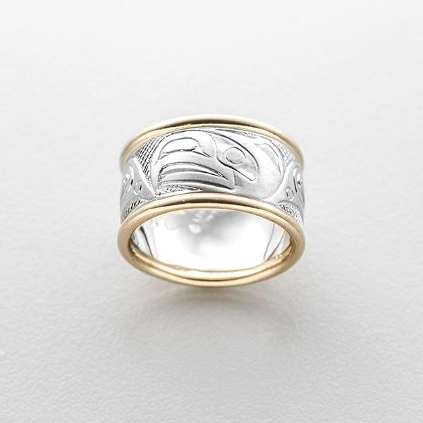 Gold Eagle Ring by Northwest Coast Native Artist Carmen Goertzen
