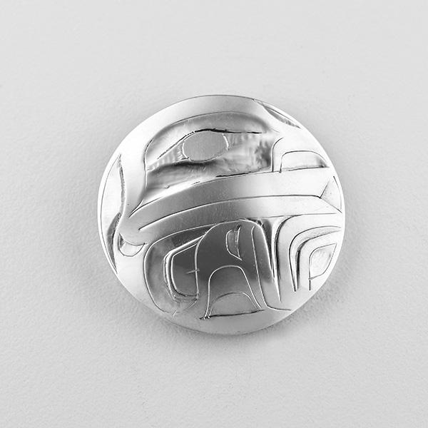 Silver Frog Pendant by Northwest Coast Native Artist Alvin Adkins