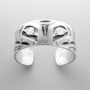 Silver Thunderbird Bracelet by Northwest Coast Native Artist Alvin Adkins