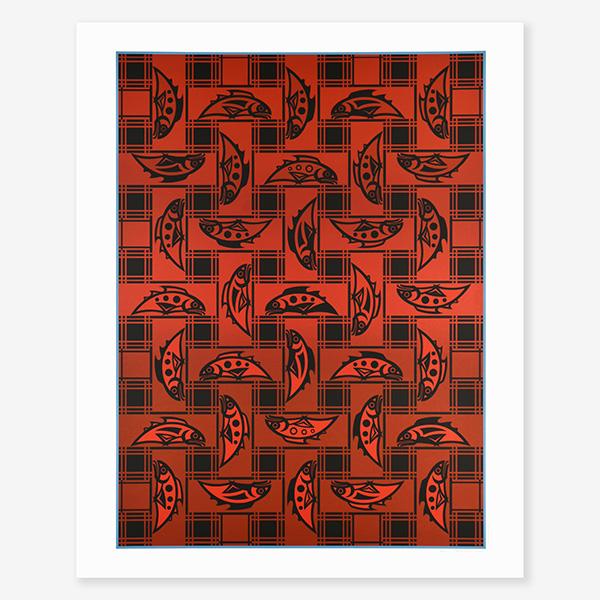 Salmon Blanket Print by Northwest Coast Native Artist Susan Point