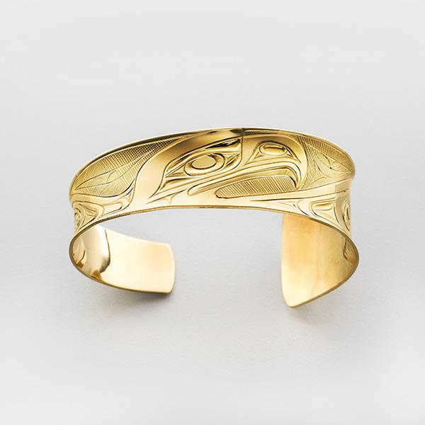 Gold Eagle and Raven Bracelet by Northwest Coast Native Artist Corrine Hunt