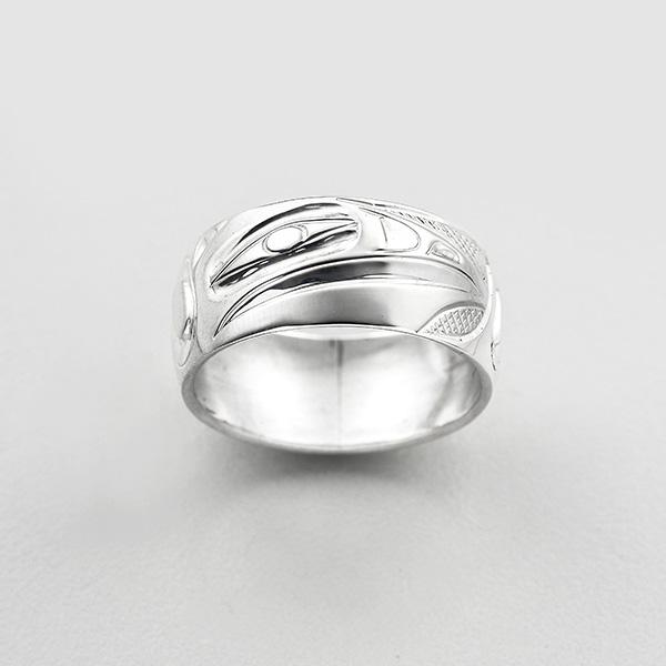 Silver Raven Ring by Northwest Coast Native Artist Ivan Thomas