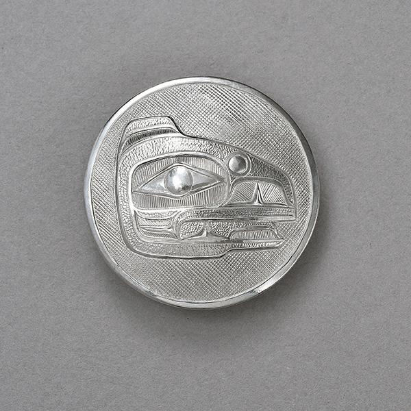 Silver Raven Pendant by Northwest Coast Native Artist Lyle Wilson