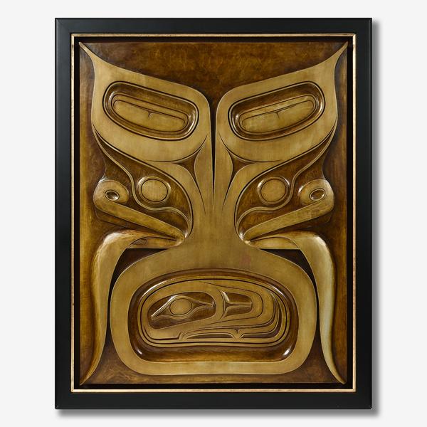 Bronze, Forton, and Patina Bear Panel by Northwest Coast Native Artist Ben Davidson