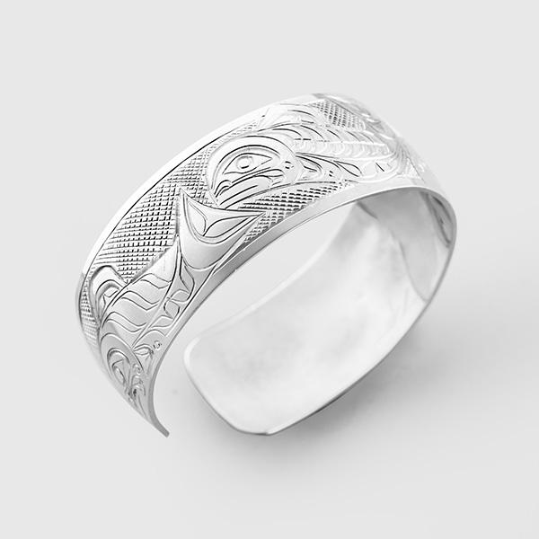 Silver Salmon Bracelet by Native Artist Don Lancaster