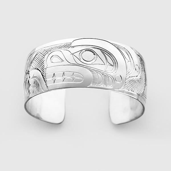 Silver Bear Bracelet by Native Artist Don Lancaster