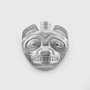Silver Beaver Pendant by Northwest Coast Native Artist Lyle Wilson