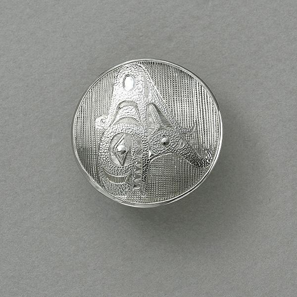 Silver Orca Pendant by Northwest Coast Native Artist Lyle Wilson