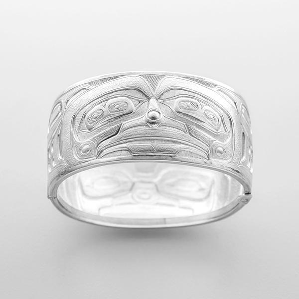 Silver Ancestor Bracelet by Northwest Coast Native Artist Lyle Wilson