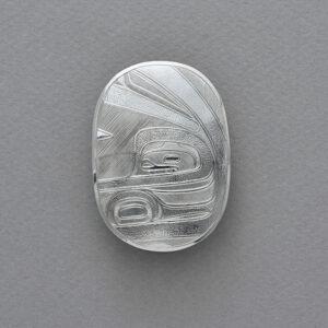 Silver Bella Coola Pendant by Northwest Coast Native Artist Lyle Wilson