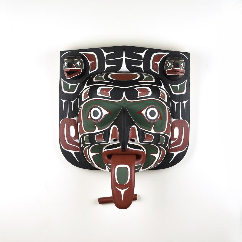 Wood Xwi Xwi Mask by Northwest Coast Native Artist Kevin Daniel Cranmer