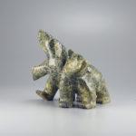 Stone Bears Sculpture by Inuit Native Artist Kakee Peter Negeoseak