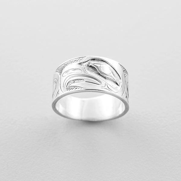 Silver Eagle Ring by Northwest Coast Native Artist Allen Thompson
