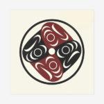 Salmon Water Ripples print by Native Artist lessLIE