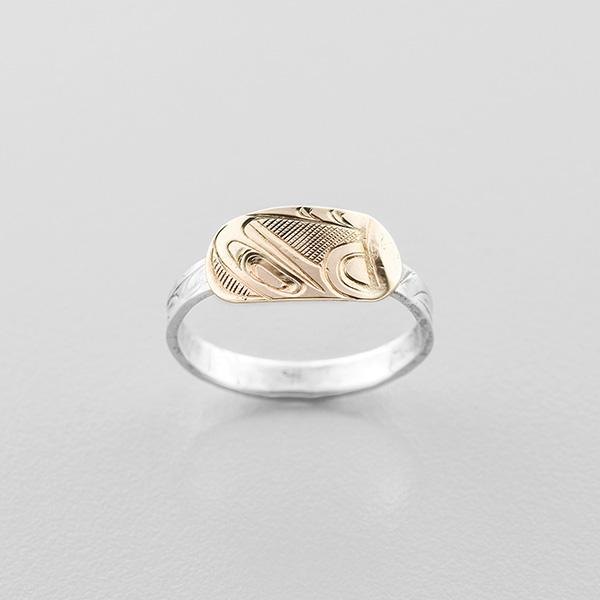 Gold Eagle Ring by Northwest Coast Native Artist Corrine Hunt