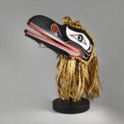 Wood and Bark Raven Mask by Northwest Coast Native Artist Kevin Donald Svanvik