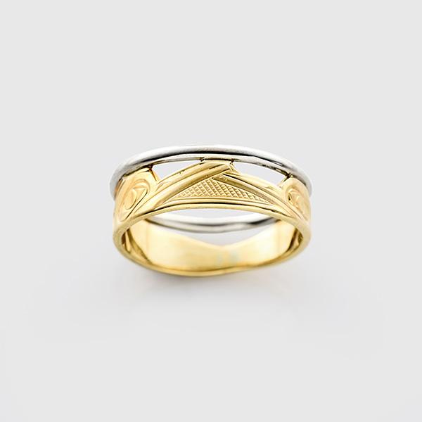 Gold Hummingbird Ring by Native Artist Corrine Hunt