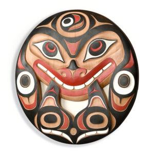 Killerwhale Panel. Red Cedar wood, Acrylic paint. Buy Don Yeomans Art.