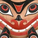 Killerwhale Panel. Don Yeomans Art. Red Cedar wood, Acrylic paint.