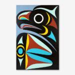 Eagle Original Painting by Northwest Coast Native Artist Maynard Johnny Jr.