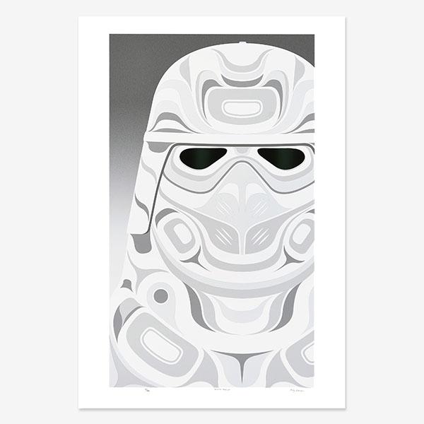Winter Warrior Print by Northwest Coast Native Artist Andy Everson