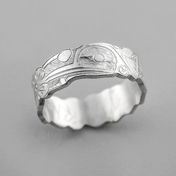 Silver Hummingbird Ring by Northwest Coast Native Artist Robert Tait