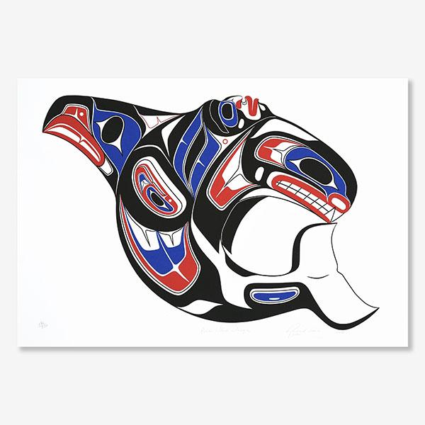 Killerwhale Print by Northwest Coast Native Artist Richard Shorty
