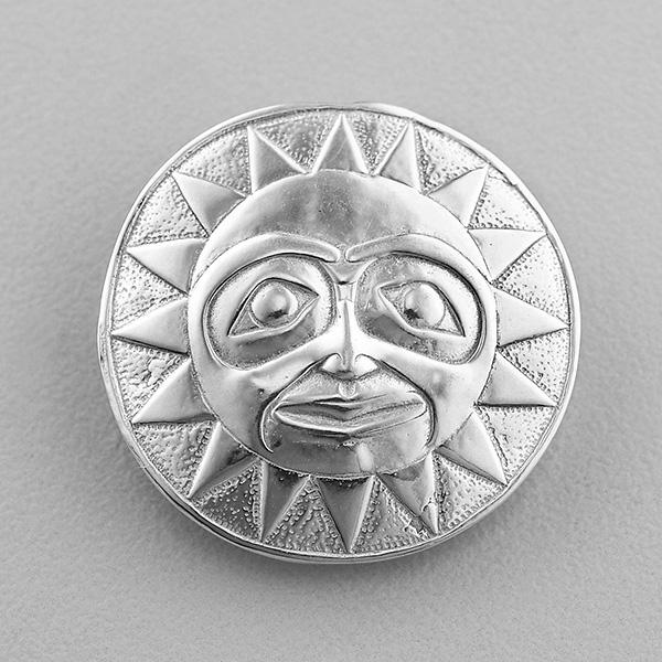 Silver Sun Pendant by Northwest Coast Native Artist Lyle Wilson