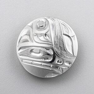 Silver Wolf Pendant by Northwest Coast Native Artist Ivan Thomas