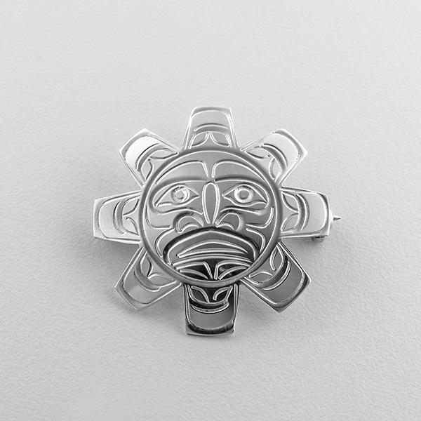 Silver Sun Pendant by Northwest Coast Native Artist John Lancaster