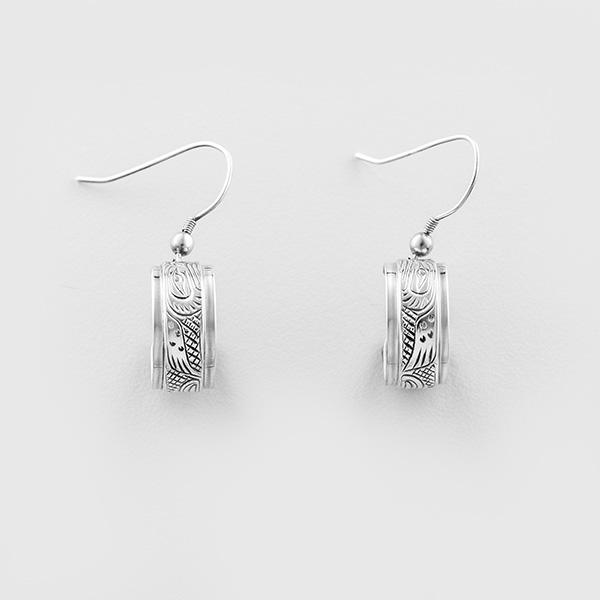 Silver Eagle Earrings by Native Artist Lloyd Wadhams Jr