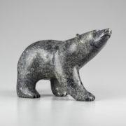 Stone Bear Sculpture by Inuit Native Artist Allan Sheupiapik