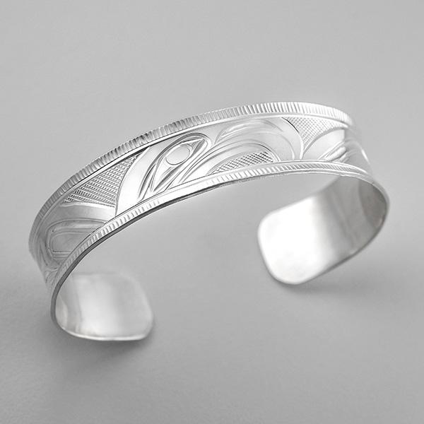 Silver Eagle Bracelet by Northwest Coast Native Artist Corrine Hunt