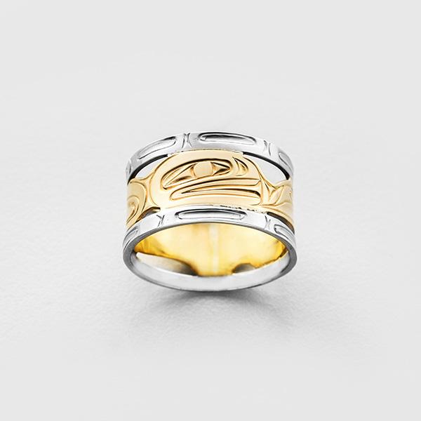 Gold Killerwhale Ring by Northwest Coast Native Artist Corrine Hunt