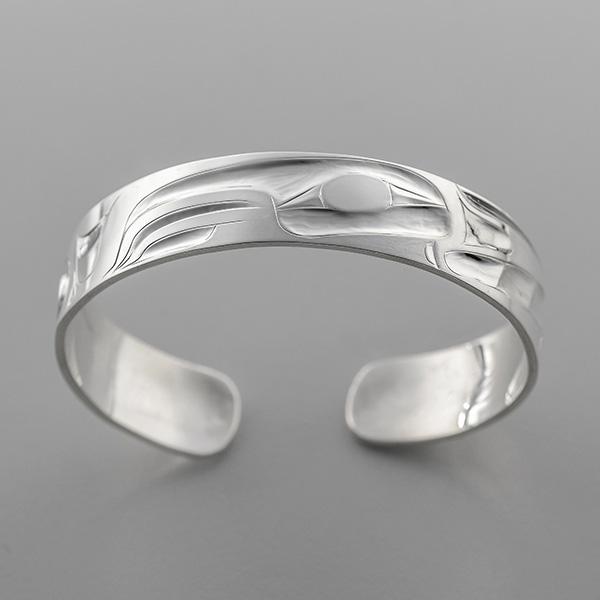 Silver Hummingbird Bracelet by Northwest Coast Native Artist Alvin Adkins