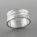 Silver Bear Ring by Northwest Coast Native Artist Alvin Adkins
