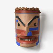 Wood Portrait Mask by Northwest Coast Native Artist Douglas David