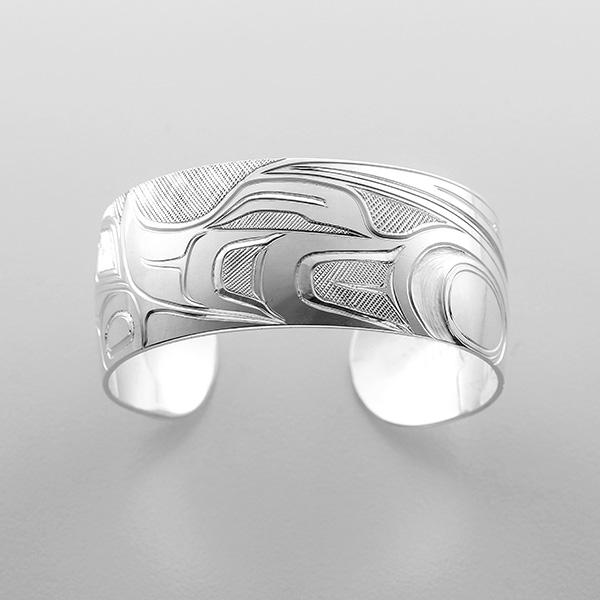 Silver Hummingbird Bracelet by Northwest Coast Native Artist Alvin Mack