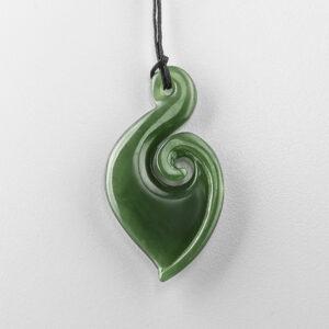 Jade Matau Pendant by Maori Artist Ross Crump
